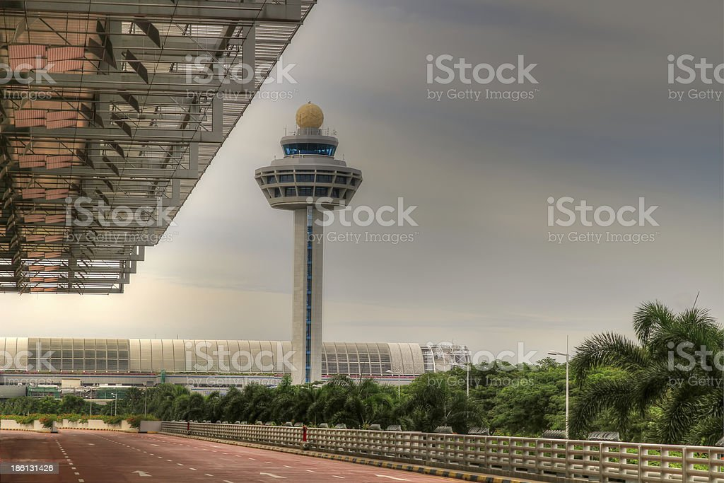 Airport Traffic Control Tower 4 stock photo