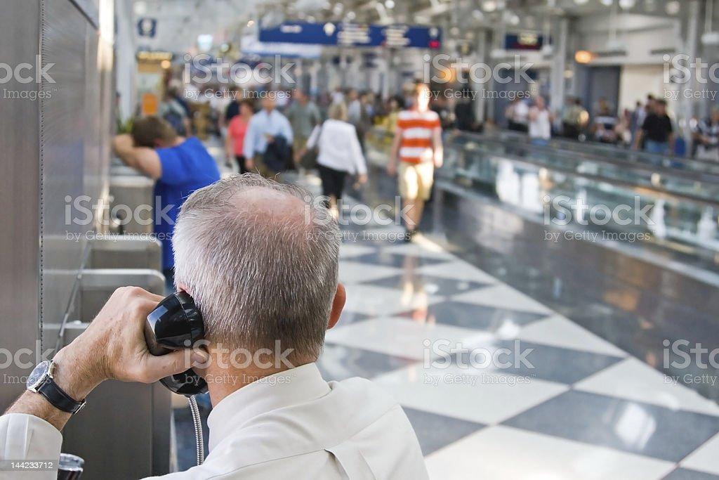 Airport Traveler royalty-free stock photo