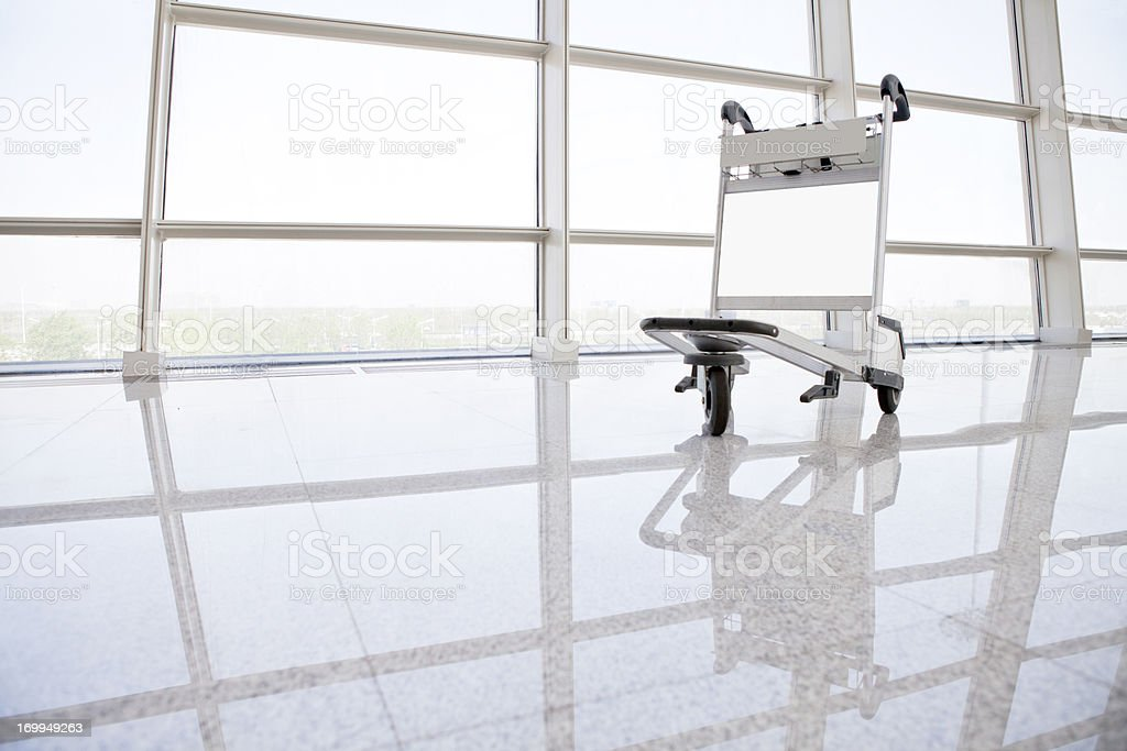 Airport Travel--Luggage cart stock photo