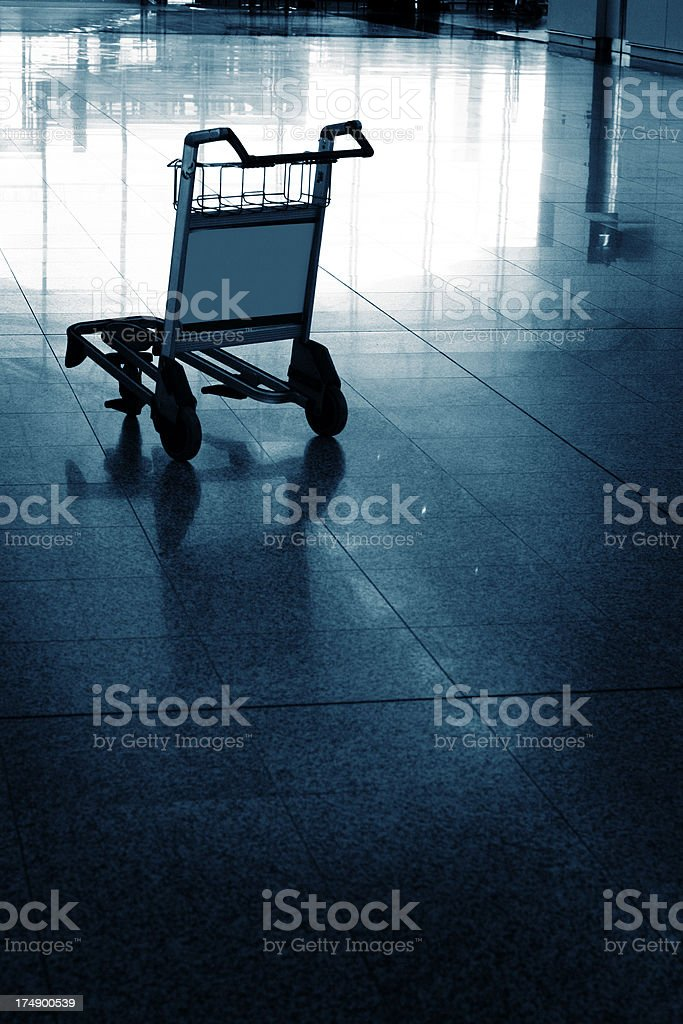 Airport Trolley royalty-free stock photo