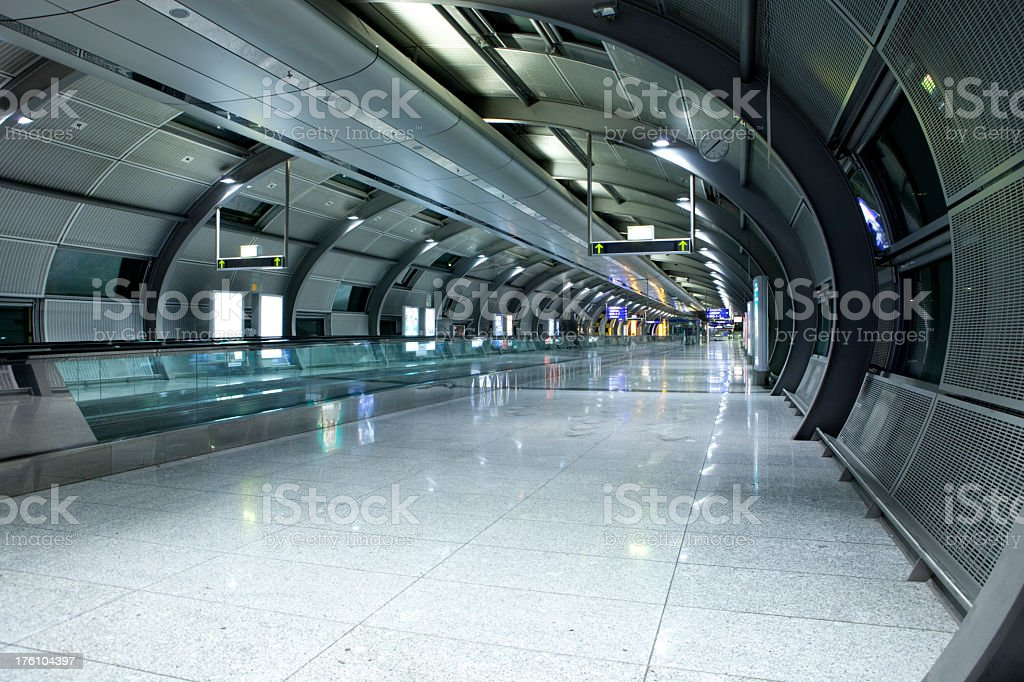Airport Tunnel royalty-free stock photo