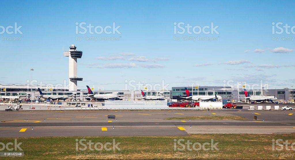 Airport View stock photo