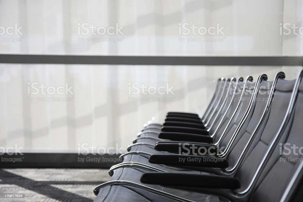airport waiting hall seats stock photo