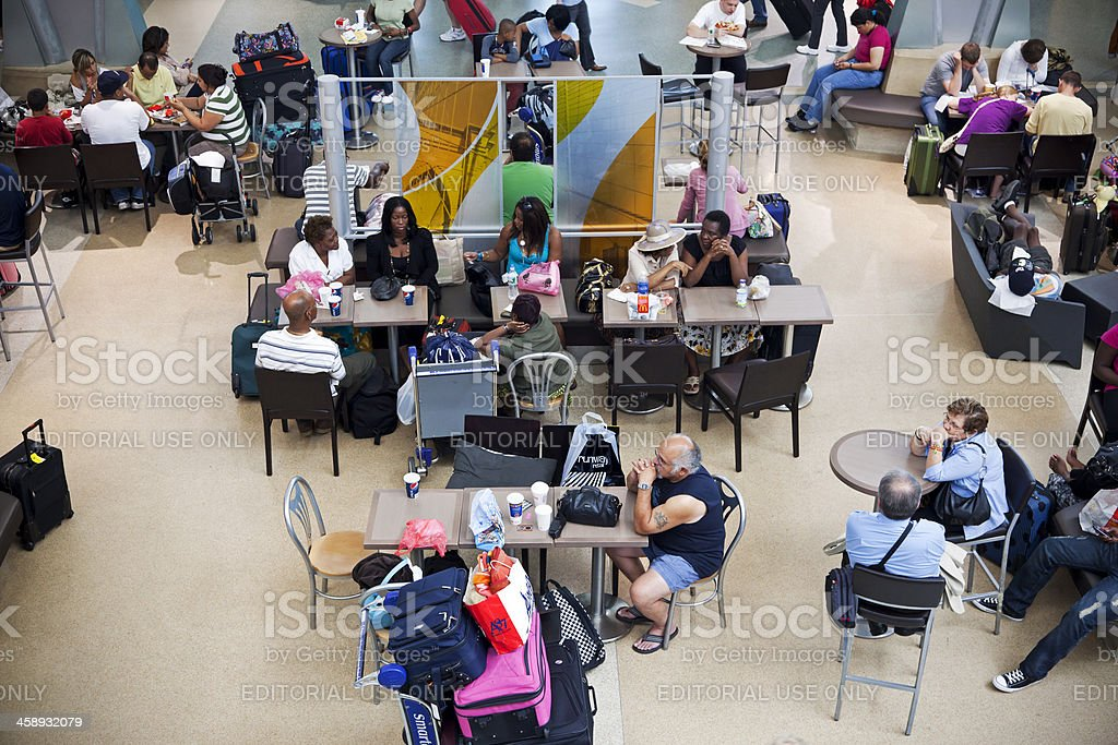 Airport waiting people # 1 XXXL royalty-free stock photo