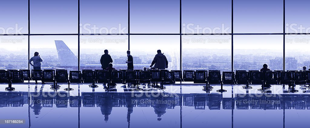 Airport waiting royalty-free stock photo
