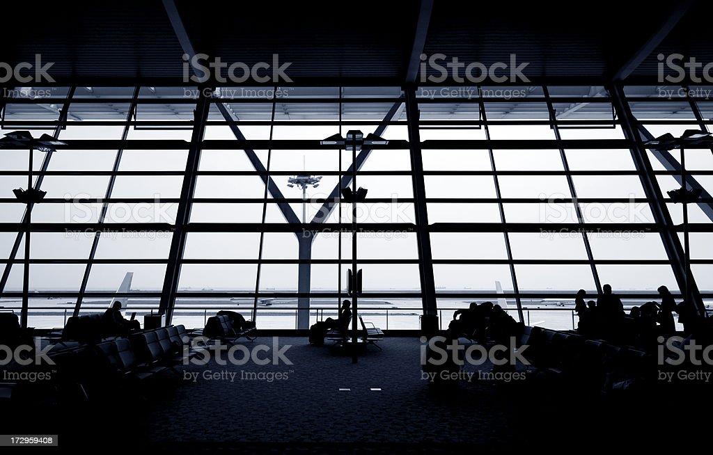 Airport waiting royalty-free stock photo