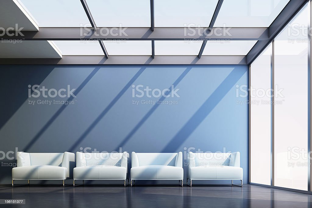 Airport waiting room royalty-free stock photo