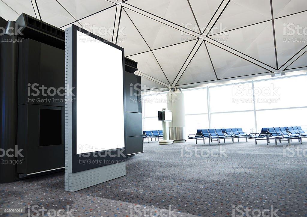 airport waiting room stock photo