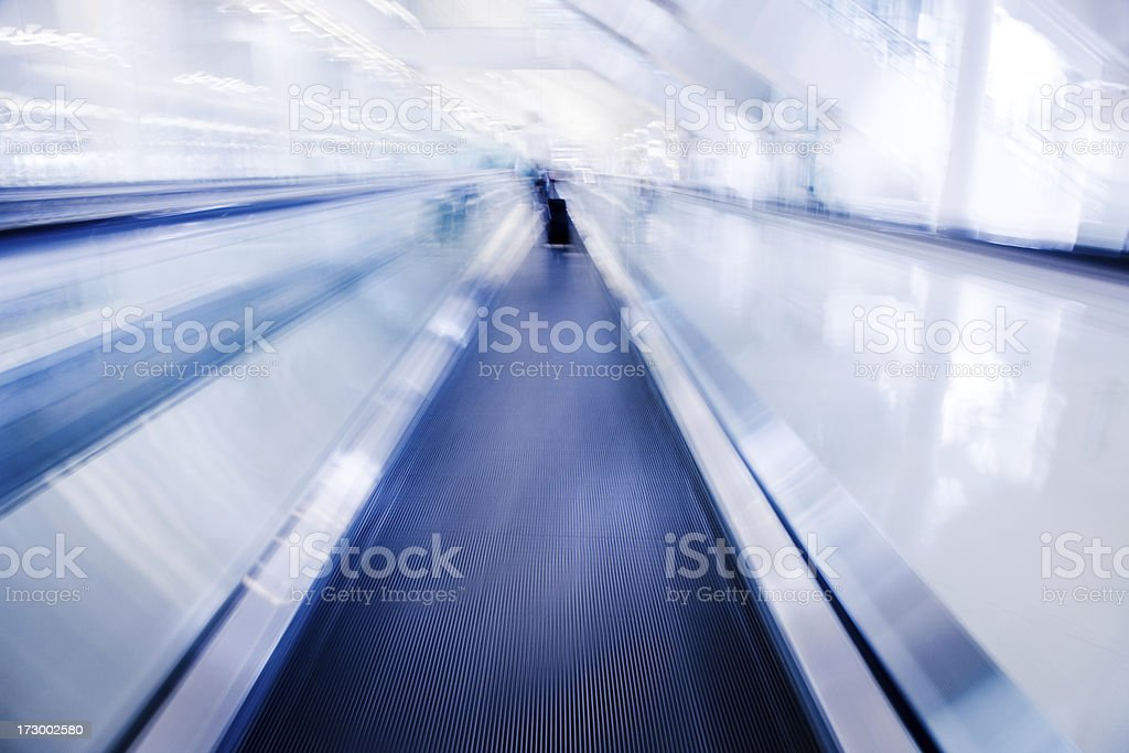 Airport Walkway in motion royalty-free stock photo