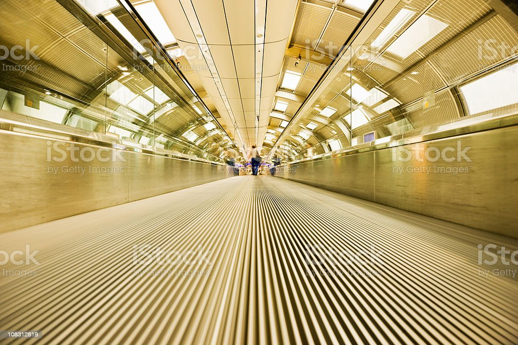 Airport Walkway Tunnel Modern Architecture royalty-free stock photo