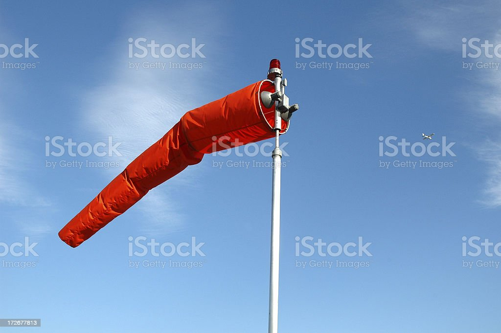 Airport Windsock stock photo
