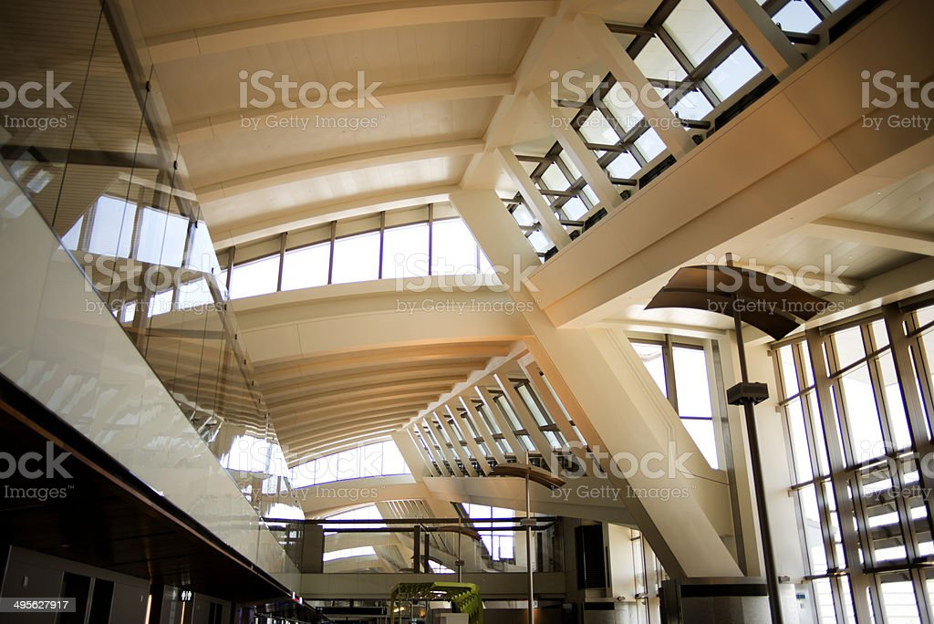 Airport wrapped in warm light royalty-free stock photo