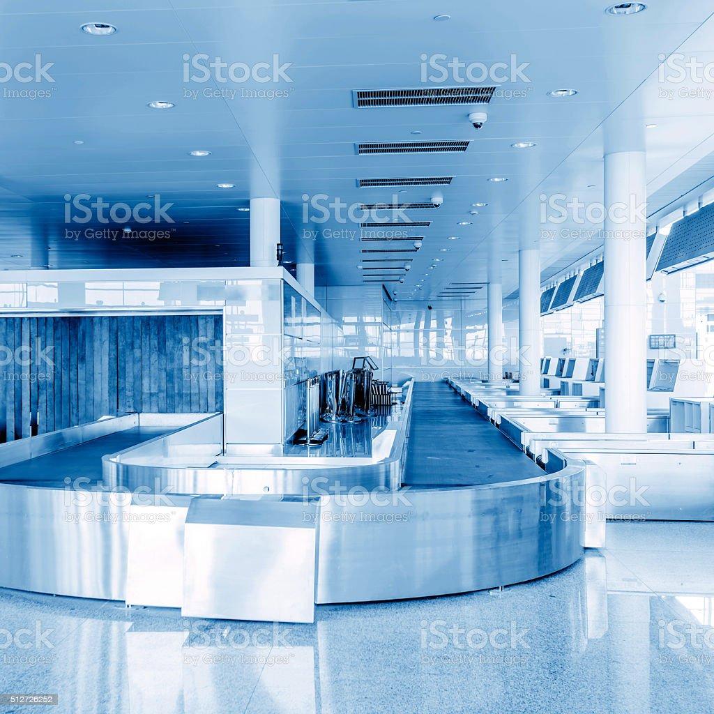Airport x-ray screening system stock photo