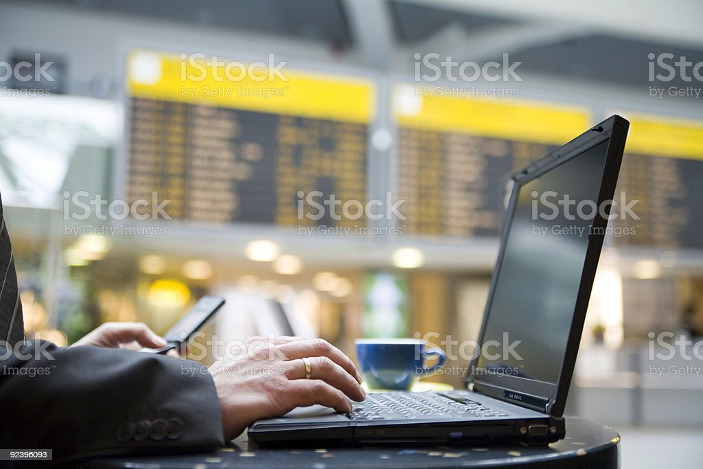Airport-business-coffee royalty-free stock photo