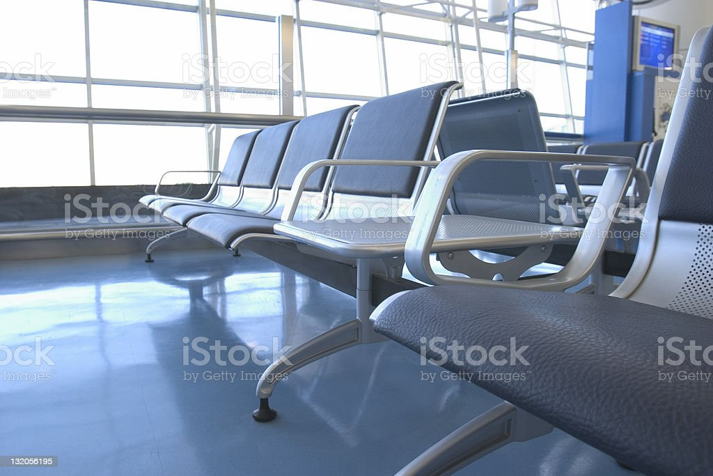 Airport/Station Transit Lounge: Waiting Room royalty-free stock photo