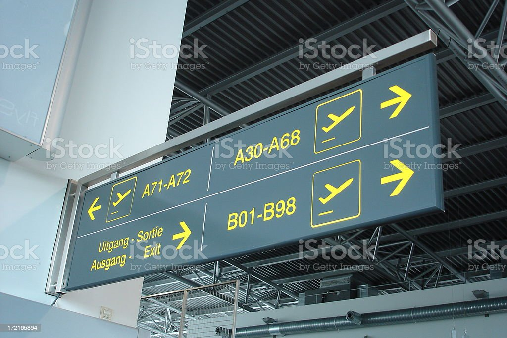 Airpot signs stock photo