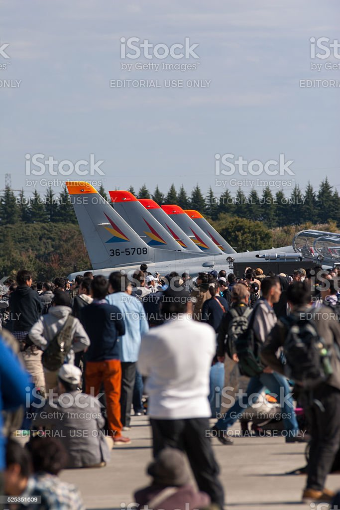 Airshow by Japanese Air Self-Defense Force stock photo
