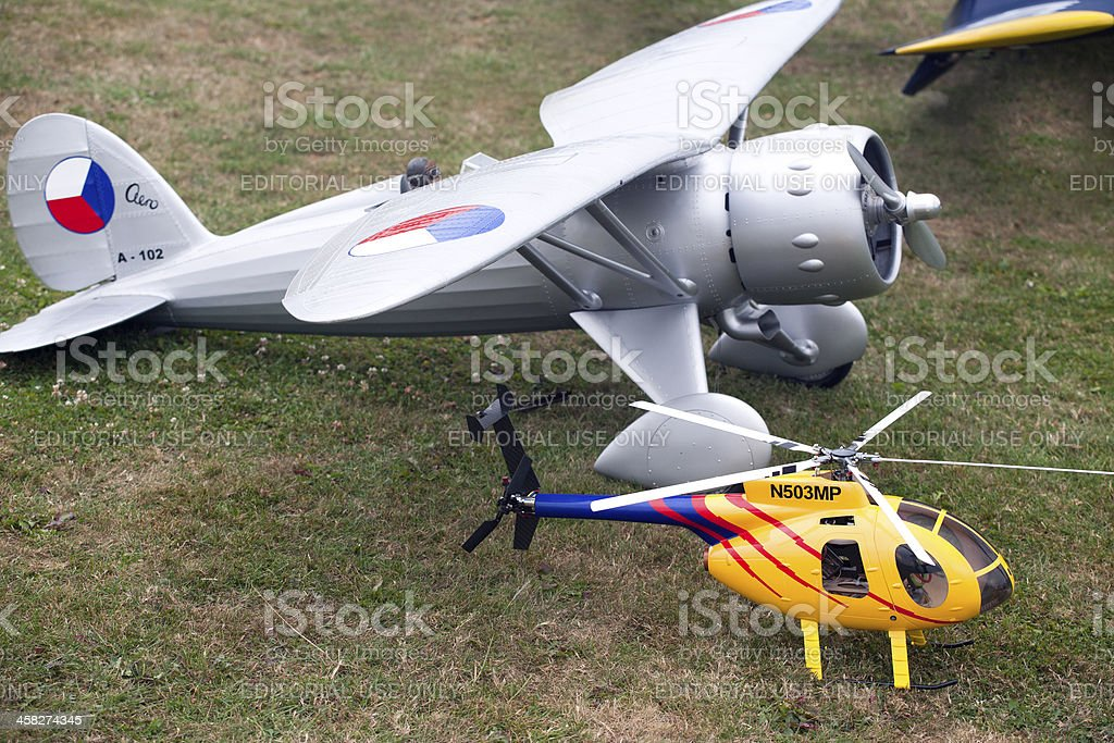 Airshow of mini rc - models royalty-free stock photo