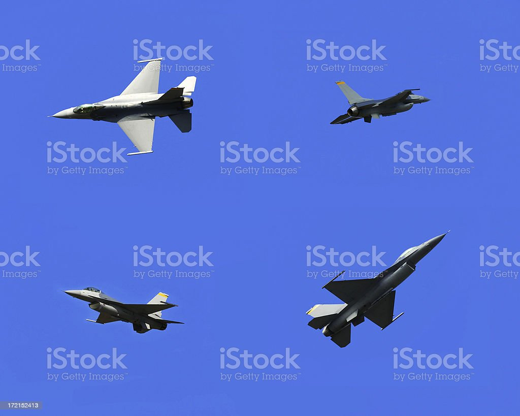 Airshow Series #7: F-16 Falcon Composite royalty-free stock photo