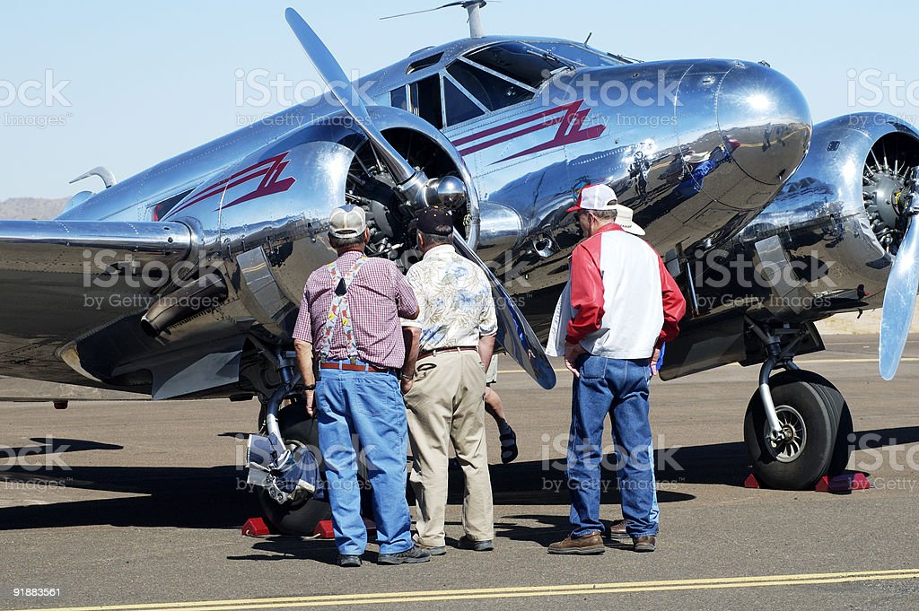 Airshow visitors 2 stock photo