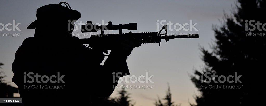 Airsoft aim scope stock photo