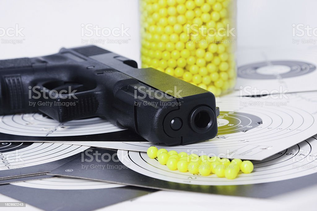 airsoft gun equipment stock photo