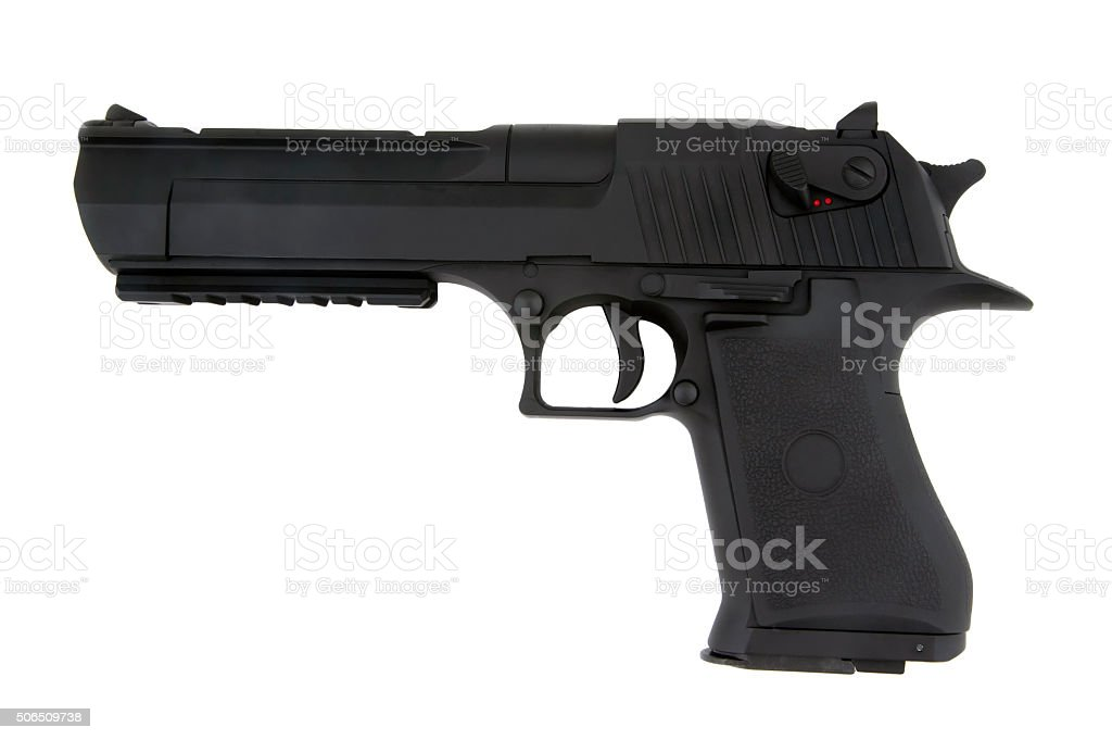 Airsoft pistol isolated stock photo