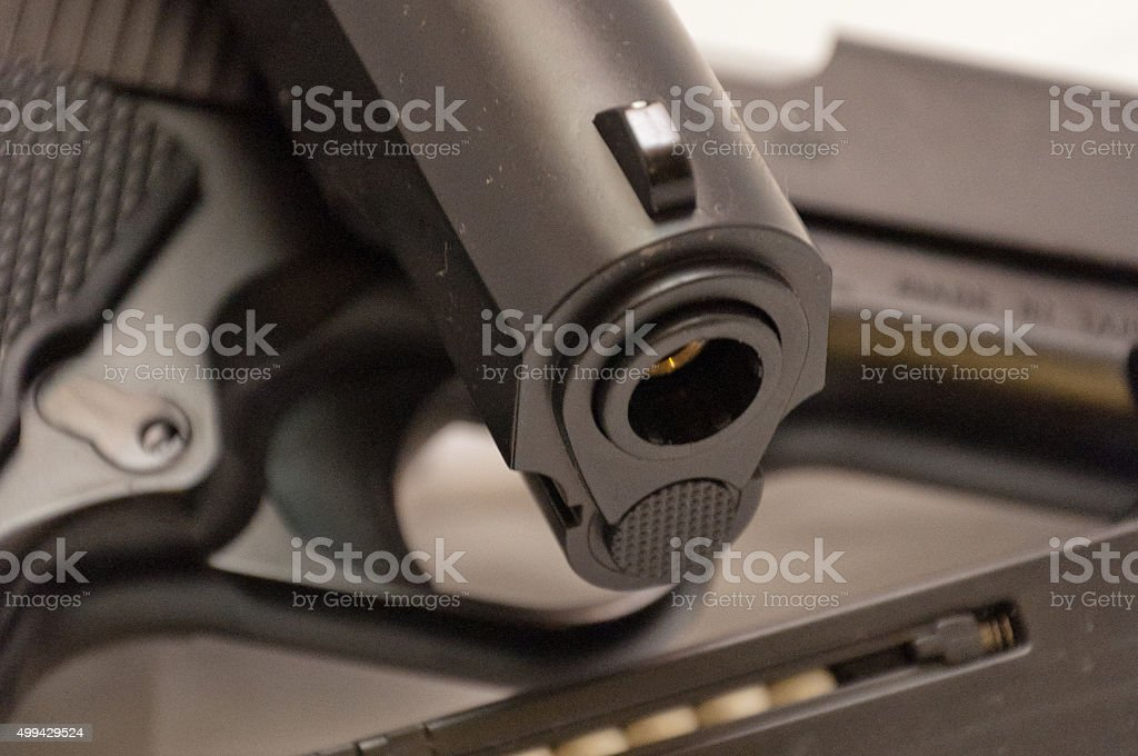 Airsoft pistols detail stock photo