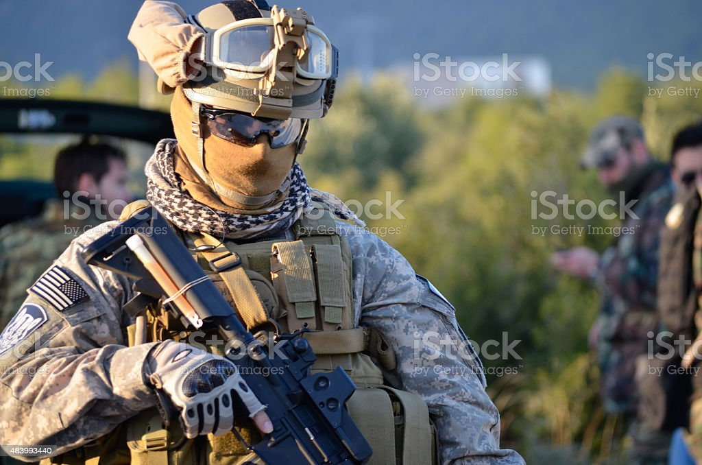 Airsoft usa uniform stock photo