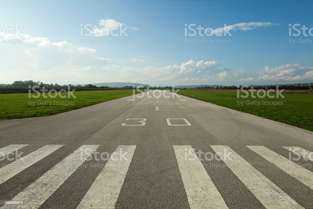 Airstrip stock photo