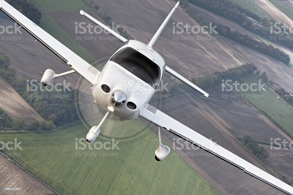 Airtoair modern civil airplane stock photo