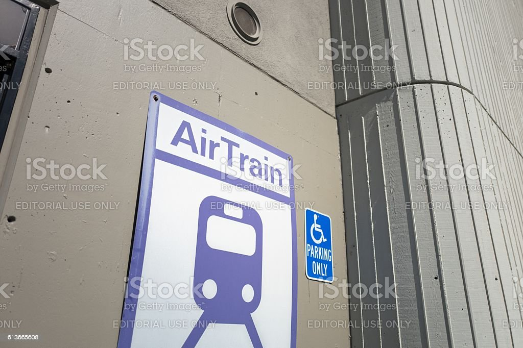 Airtrain Sign stock photo