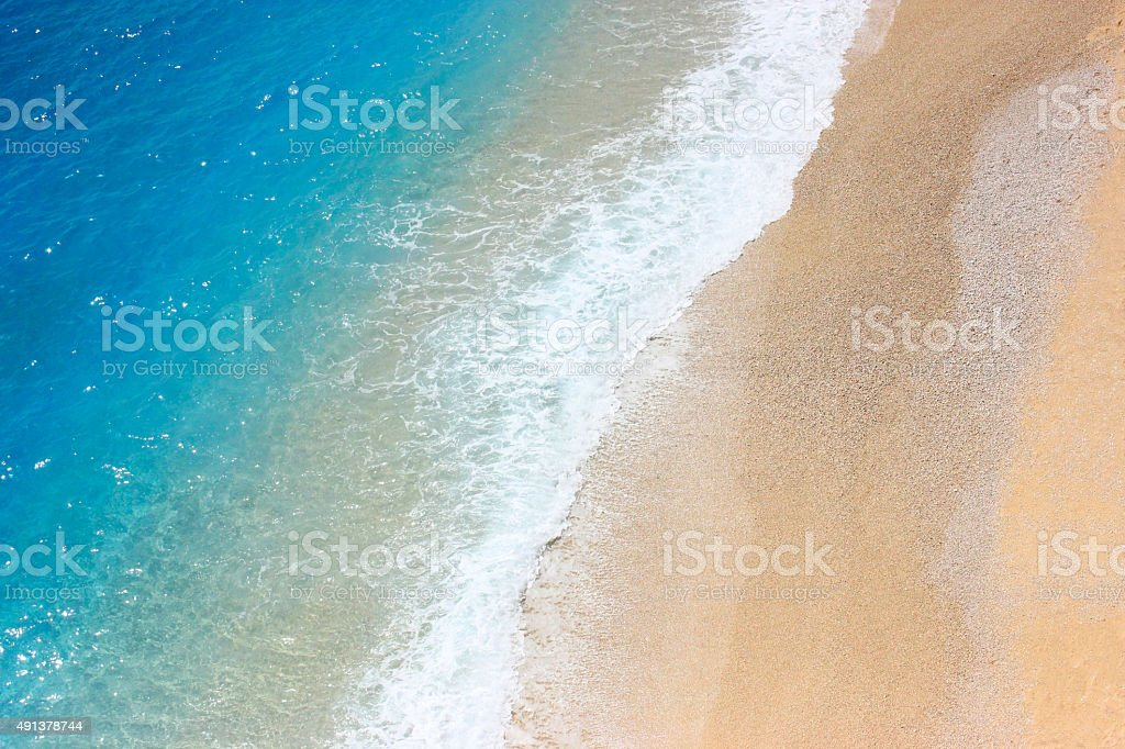 Airview of the coast azure sea stock photo