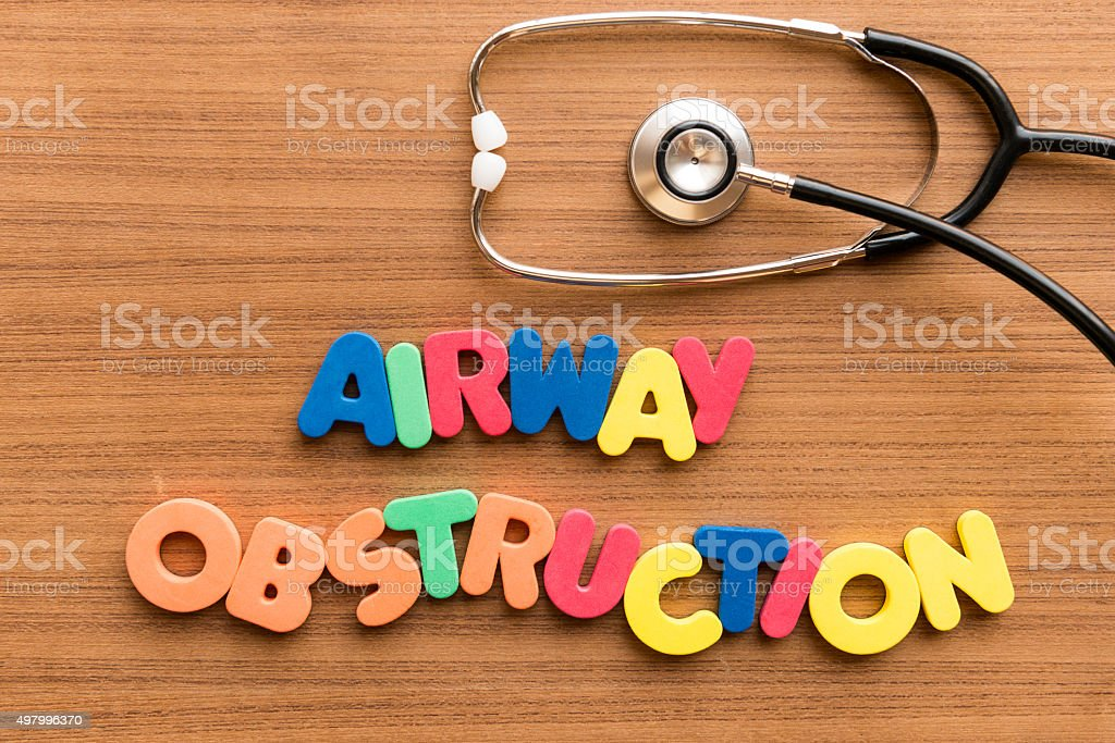 Airway Obstruction stock photo