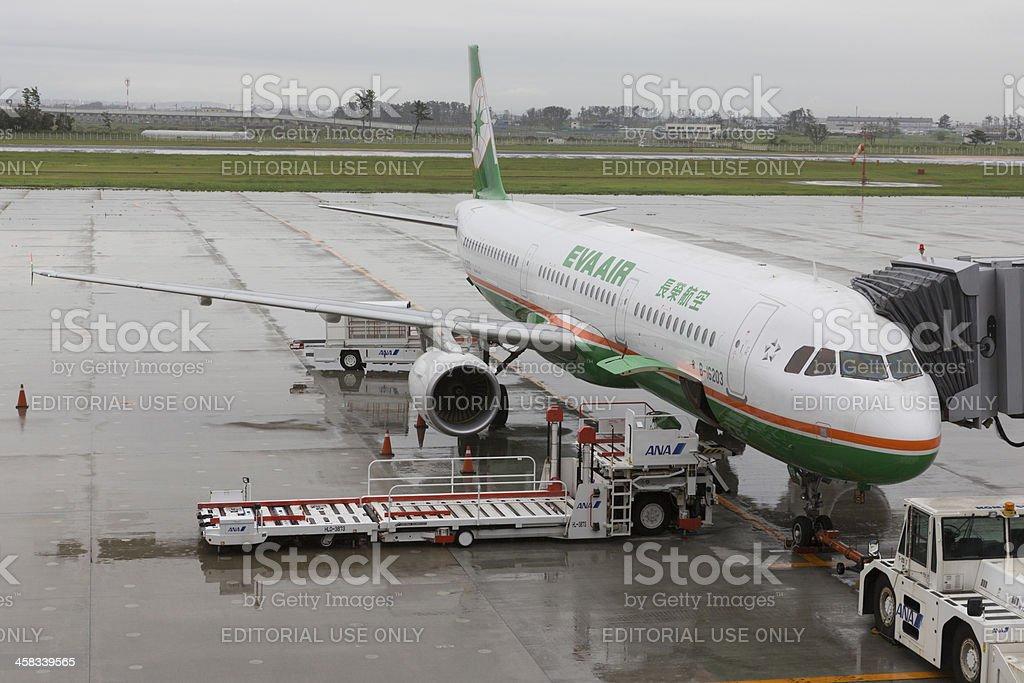 EVA Airways Airbus A321 royalty-free stock photo