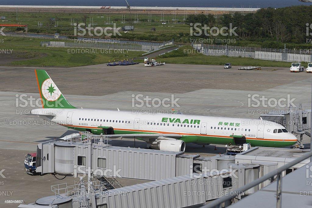 EVA Airways Airbus A321 stock photo