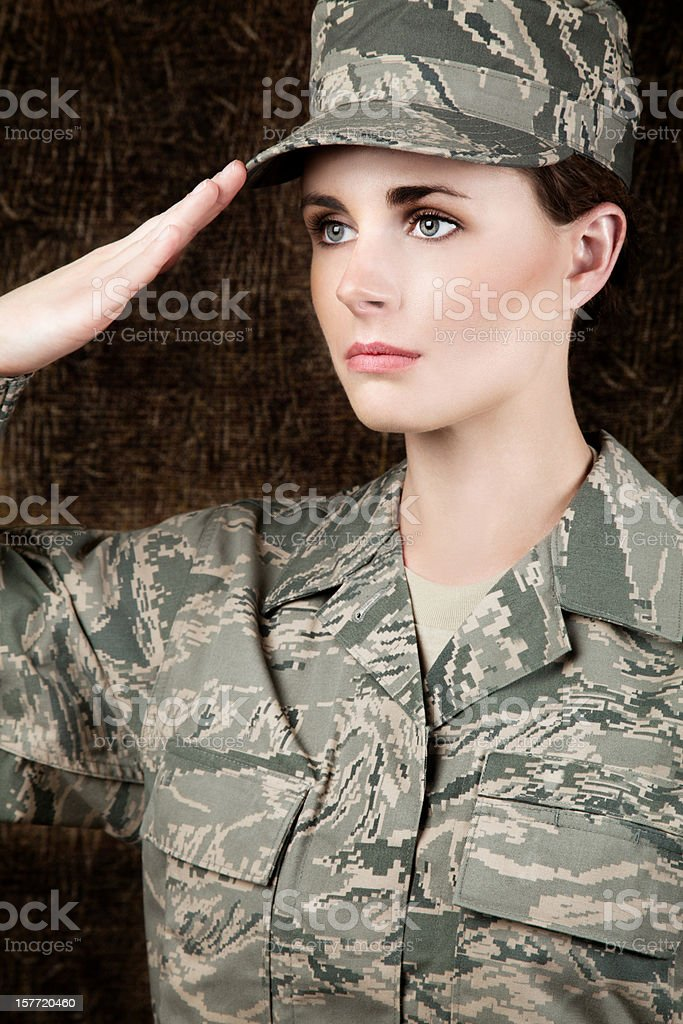 U S Airwoman Portrait royalty-free stock photo
