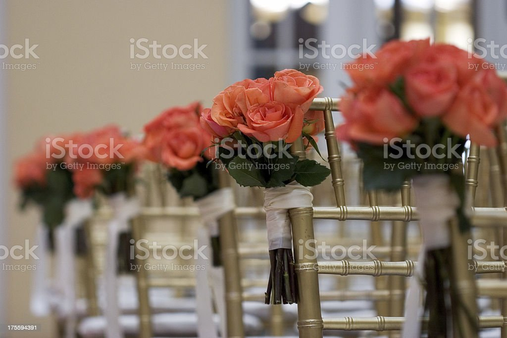 Aisle Roses royalty-free stock photo