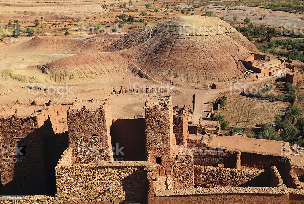 Ait Ben Haddou Kasbah, Atlas Mountains, Ouarzazate, Morocco stock photo