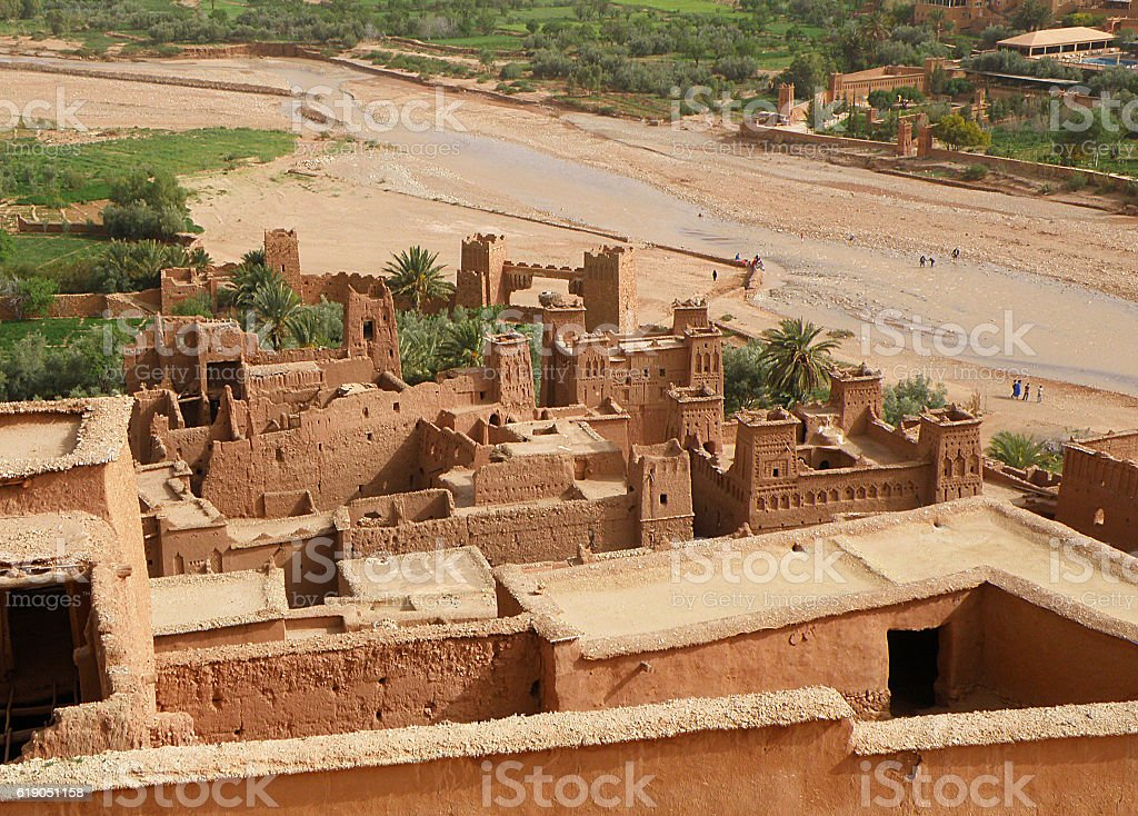 Ait Ben Haddou, Traditional Moroccan Fortified City of Morocco stock photo