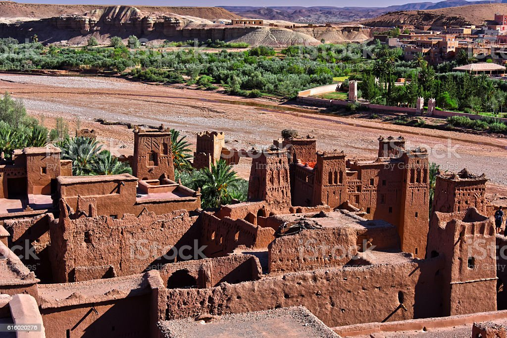 Ait Benhaddou, ancient fortification, near the city of Warzazat stock photo