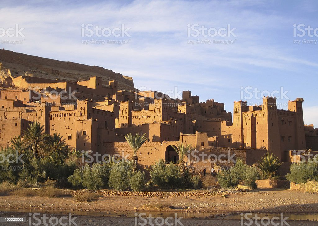 Ait Ben-Haddou at the sunset royalty-free stock photo