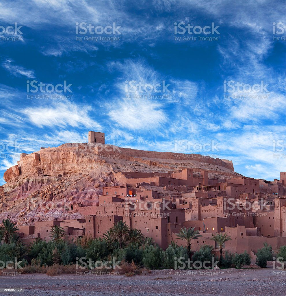 Ait Benhaddou Casbah in Morocco stock photo