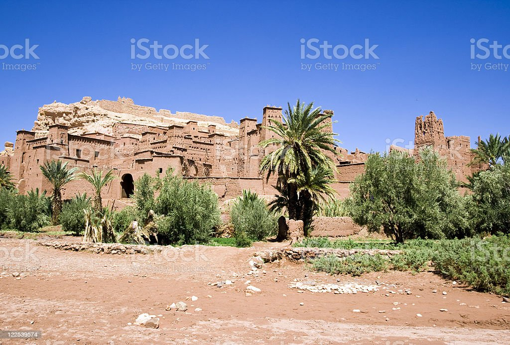 Ait Benhaddou Fortified Town royalty-free stock photo