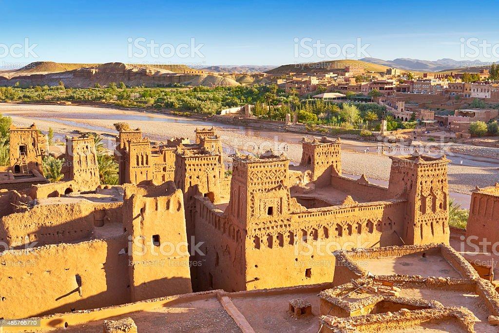 Ait Benhaddou fortress near Ouarzazate, Morocco stock photo