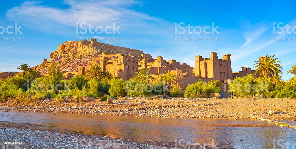 Ait Benhaddou fortress near Ouarzazate, Morocco stock photo