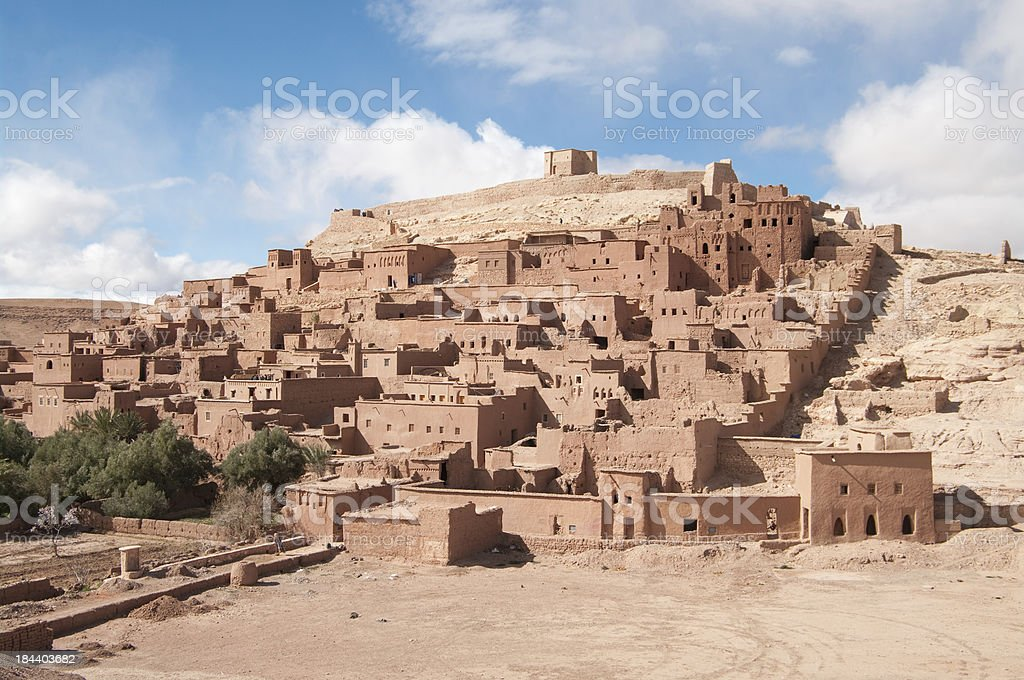 Ait Benhaddou Kasbah or Ksar in Morocco Africa stock photo