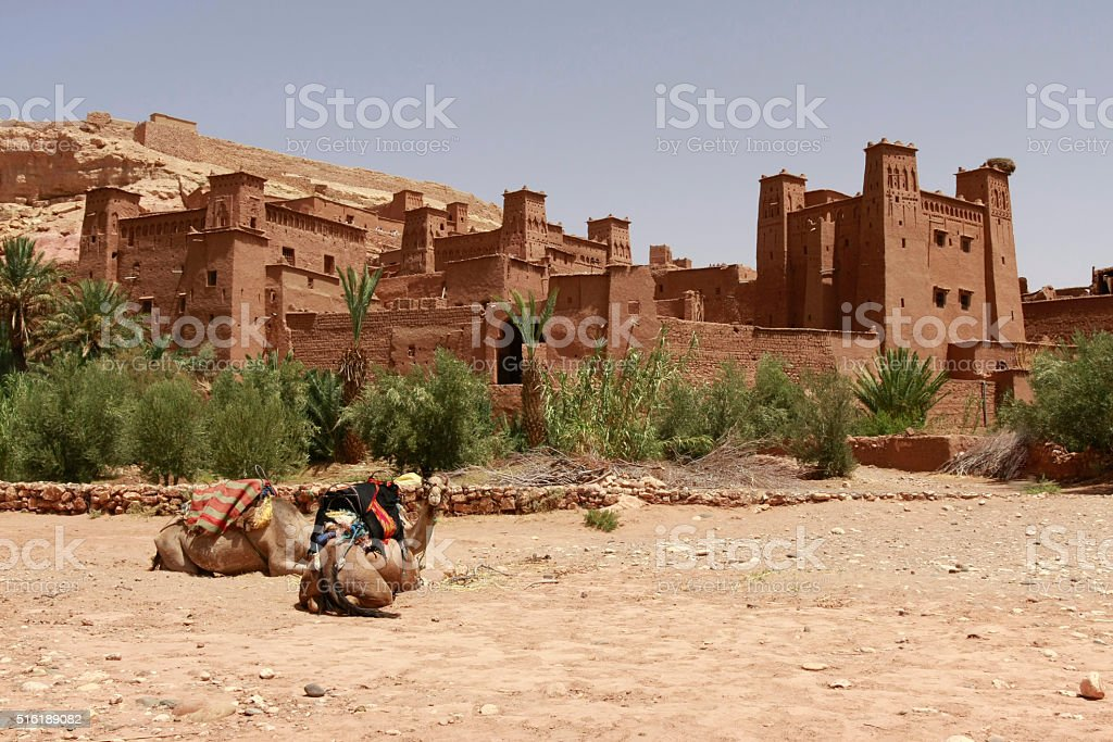 Ait Benhaddou, traditional Ksar in Morocco stock photo
