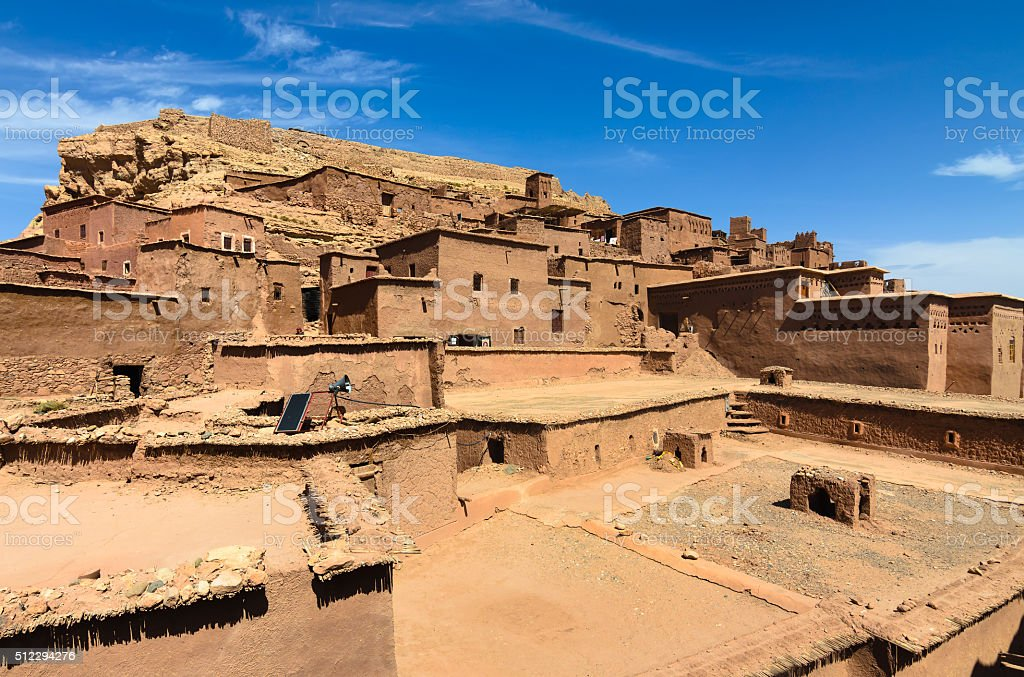 Ait Benhaddou,fortified city, kasbah or ksar in Ouarzazate, Morocco stock photo