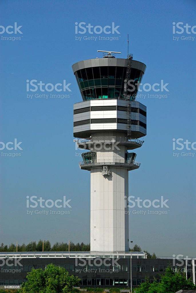 Ait traffic control tower in Steenokkerzeel,Vlaams-Brabant,Belgium stock photo